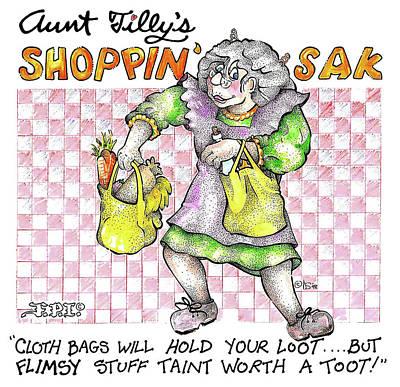 Real Fake News Ad Tilly's Shoppin' Sak Poster