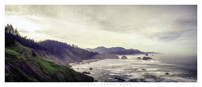 Ecola State Park Poster Poster by Chad Tracy