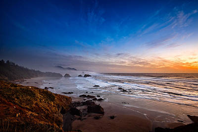 Ecola State Park At Sunset Poster