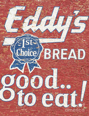 Eddy's Bread Poster by Juli Scalzi