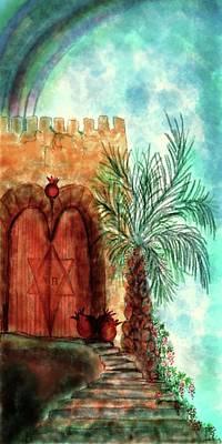Eden Garden Doors Poster by Sandrine Kespi