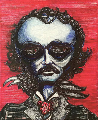 Poster featuring the painting Edgar Alien Poe by Similar Alien