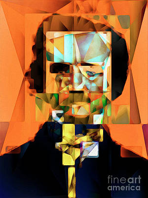Edgar Allan Poe In Abstract Cubism 20170325 Poster by Wingsdomain Art and Photography