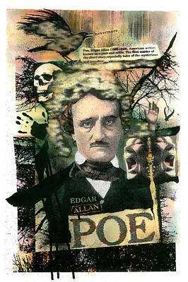 Poster featuring the painting Edgar Allan Poe by John Dyess