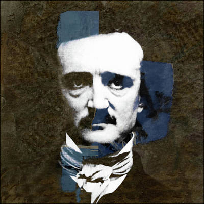 Poster featuring the mixed media Edgar Allan Poe  by Paul Lovering