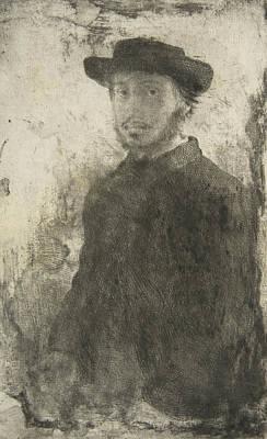 Edgar Degas - Self Portrait Poster by Edgar Degas
