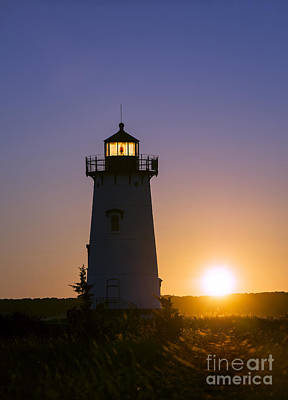 Edgartown Light Sunrise Poster by John Greim