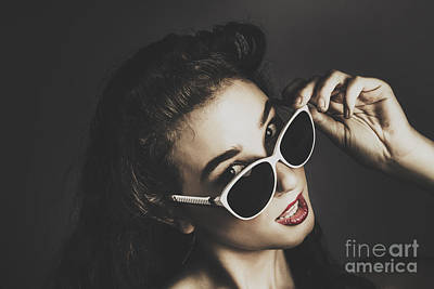 Edgy Fashion Pin Up Model Poster by Jorgo Photography - Wall Art Gallery