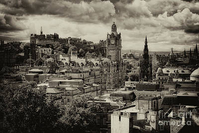Poster featuring the photograph Edinburgh In Scotland by Jeremy Lavender Photography