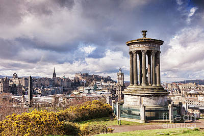 Poster featuring the photograph Edinburgh Skyline by Colin and Linda McKie