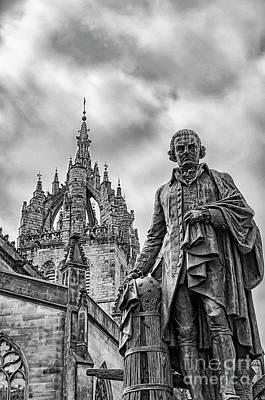 Edinburgh Statue Of Adam Smith Poster