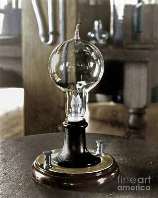 Edison's Light Bulb, 1879 Poster