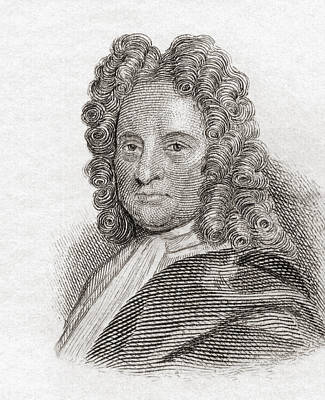 Edmond Halley, 1656 To 1742. English Poster by Vintage Design Pics