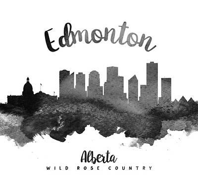 Edmonton Alberta Skyline 18 Poster by Aged Pixel