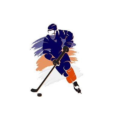 Edmonton Oilers Player Shirt Poster by Joe Hamilton