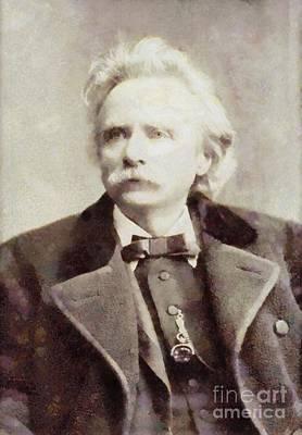 Edvard Grieg, Composer By Sarah Kirk Poster by Sarah Kirk