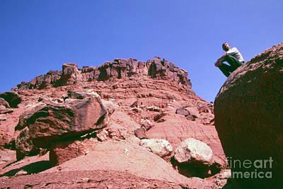Edward Abbey On Rocks In The Desert, 1969 Poster