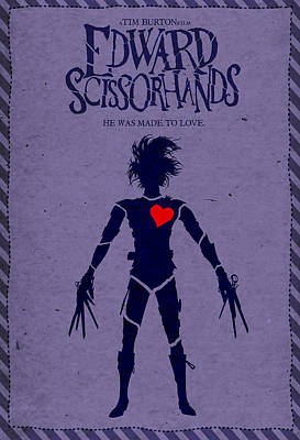 Edward Scissorhands Alternative Poster Poster by Christopher Ables