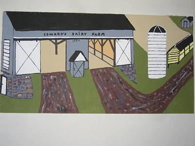 Poster featuring the painting Edwards Dairy Farm by Jeffrey Koss
