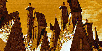 Hogsmeade Village Roof Tops Poster by David Lee Thompson
