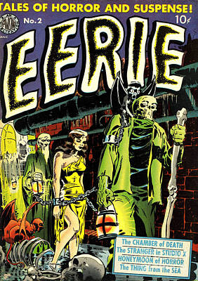 Eerie Comic Book Cover Restored Poster