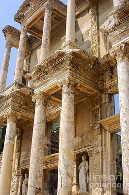 Efes Library Of Celsus Poster by Bob Phillips
