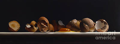 Egg And Shells No.7  Poster by Larry Preston