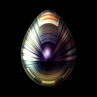 Egg With Pearlescent Cloak Poster by Hakon Soreide