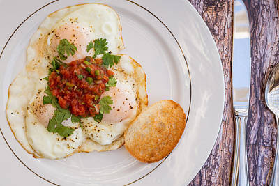 Eggs With Salsa And Toast #1 Poster