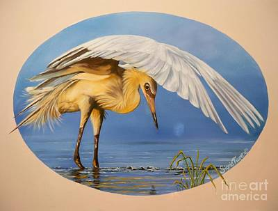 Chloe The  Flying Lamb Productions                  Egret Fishing Poster