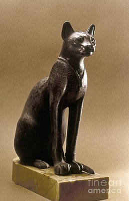 Egyptian Bronze Statuette Poster by Granger