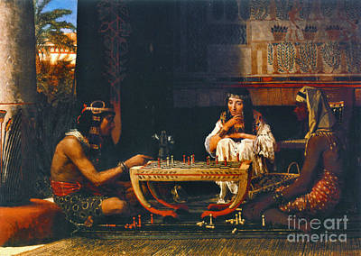 Egyptian Chess Players 1865 Poster by Padre Art