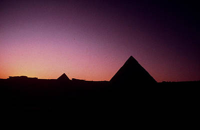 Poster featuring the photograph Egyptian Sunset by Gary Wonning