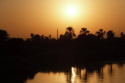 Poster featuring the photograph Egyptian Sunset by Silvia Bruno