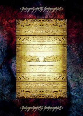 Egyptian Tablet V042 Poster by Daniel Holeman