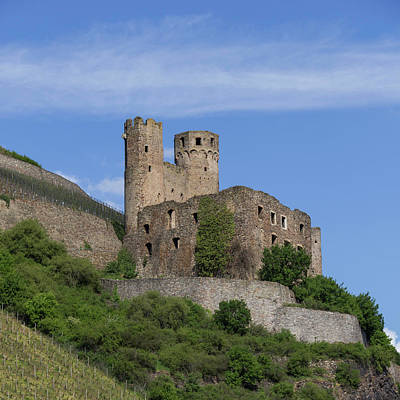 Ehrenfels Castle Squared 02 Poster by Teresa Mucha