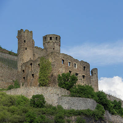 Ehrenfels Castle Squared Poster by Teresa Mucha