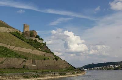 Ehrenfels Castle With View Of Bingen Poster by Teresa Mucha