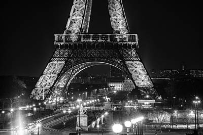 Eiffel At Night Poster by Andrew Soundarajan