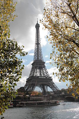 Poster featuring the photograph Eiffel From Avenue De New York by Christopher Kirby