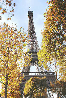 Poster featuring the photograph Eiffel Tower Amidst The Autumn Foliage by Ivy Ho