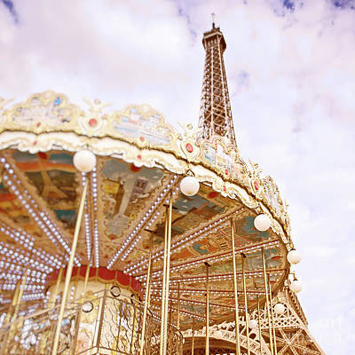 Poster featuring the photograph Eiffel Tower And Carousel by Ivy Ho