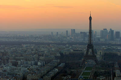 Eiffel Tower At Dusk Poster by Sebastian Musial