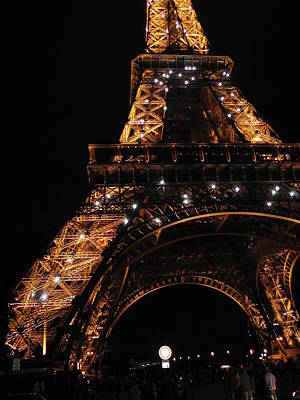 Poster featuring the photograph Eiffel Tower At Night by Nancy Taylor