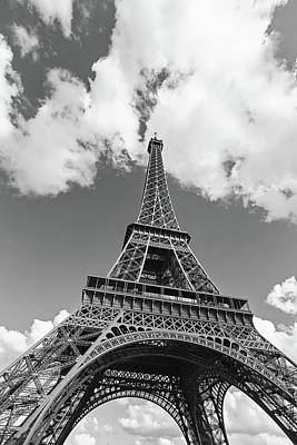 Eiffel Tower - Black And White Poster