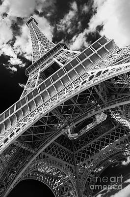 Eiffel Tower Infrared Abstract Poster