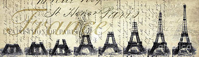 Eiffel Tower Poster by Jon Neidert