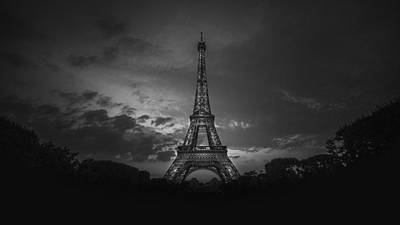 Eiffel Tower Poster by Midhat Mulabdic