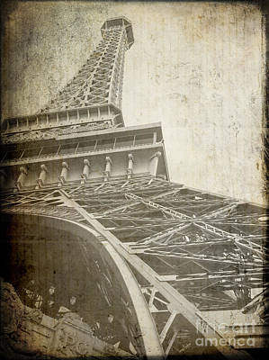 Eiffel Tower Paris Rough Poster by Edward Fielding
