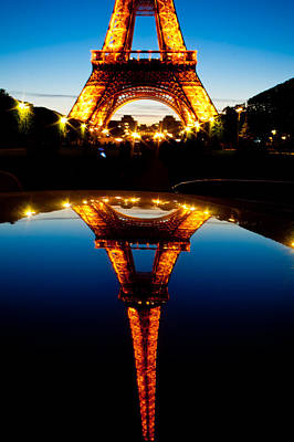Eiffel Tower Reflection Poster